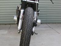 This is a 1973 Honda cb750 that has been completely
