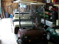 Hello, We are selling our 2001 Yamaha G20A golf cart.
