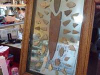 Arrowhead Fish Tail Spear (Soiux)Red Churt Center point