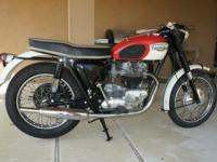 A very rare and collectable 1966 Triumph Model 6T
