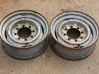"(2) Factory Ford 8 lug 16x6"" steel wheels. These came"