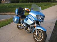 2003 BMW R1200CL, touring cruiser, 35k, Capri blue,