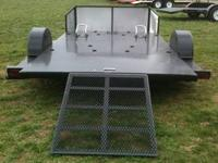 82x12 Motorcycle Trailer Black Color $1550 no plate on