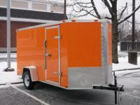New Freedom Enclosed Cargo Trailer 6 x 12 V-Front,Rear