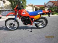 This is an original Honda 1985 XL600R that's survived