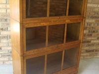 This is one of two Antique 3 shelf barrister's bookcase