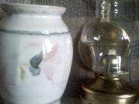 "2 Antique Lamps Portable Lamps 30"" (inches) tall,"