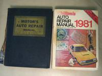 2 auto repair manuals: a 21st Edition of Motor's Auto