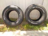 UP FOR SALE ARE 2 BF GOODRICH T/A RADIALS SIZE