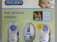 The First Years Brand 2 receiver baby monitor. Like new
