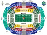 Baltimore Ravens Season Tickets  2 Tickets - Section