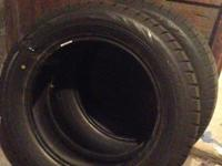 2 slightly used Bridgestone Blizzak WS70 Tires
