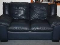 For Sale: BOTH Italian leather sofa and love seat (deep