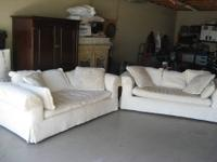 2 BEAUTIFUL HIGH END ROBB & STUCKY MATCHING SOFAS -