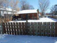 Small two bedroom one bath home on corner lot. Has