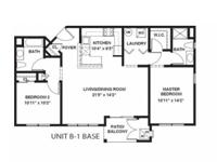This is a 1094 Sq. Ft., 2 Bedroom, 2 Bath, Luxury