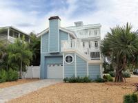 Key West style home in Sunset Beach, directly across