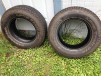 I have 2 BF Goodrich tires P225/70R16 for sale. Both in