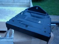 2-Bin mounting bracket and drawbar for riding lawn