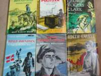 Six vintage biographies for young readers published by