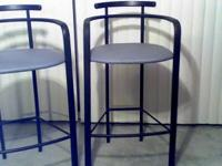 2 very nice black metal barstools purchased new at San
