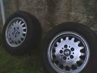 "For sale are 2 full size spare 15"" wheels for a 3"
