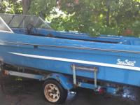 1 boat  is a 17ft sea star with a title and trailer