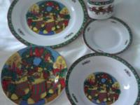 I have this Christmas dinnerware set I only used one