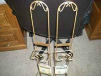 ( 2 ) Brand New Gold (color ) plate Racks, Each one