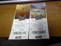 I am selling two brewers tickets.  Unfortunately I