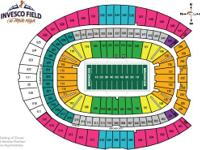 2 tickets to the Denver Broncos vs Indianapolis Colts