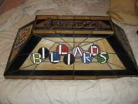 (2) bulb Pool Table Billiards Hanging Lamp Light - $65