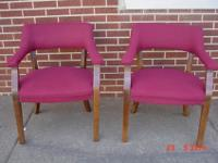 Matching set of 2 Barrel Chairs, very sturdy, deep