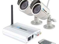 2 wireless 4 channel security cameras with remote and