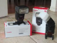 2 Canon 580 EX Shoe Mount Flashes $300 each $580 both I