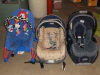 2 infant seats with bases one safety 1st one craco