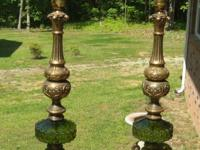 2 CARL FALKENSTEIN VINTAGE/ANTIQUE LAMPS HAS THE #7112