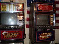 I have here 2 working casino video poker machines for