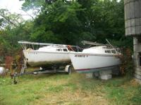 Two Catalina 22 ft. Pop top one needs the tiller and