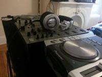 Up for sale 2 CDJ-200 cd gamers, DJM-600 mixer, RP-DH