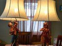 My Mother created these 2 beautiful figurine lamps in