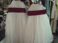 2 white Girls' dresses.  Perfect for Xmas, Easter or as