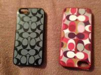 2 Coach I Phone cases perfect condition