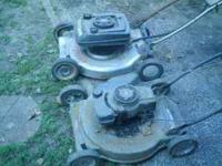 2 Craftsman mowers 1 is self propelled 1 is not. Both