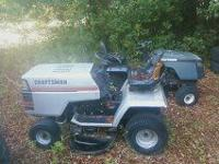 2 craftsman riding mowers both run one needs belt other