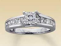 2 carat princess-Leo-Cut diamond engagement ring - the