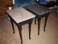brand new, handcrafted, 2 Granite toped nigthstands,
