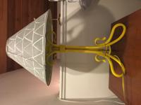 2 cute lamps for sale. Hand-spray painted yellow base,