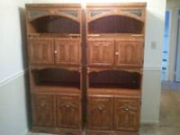 Two decor cabinets..missing one handle on each