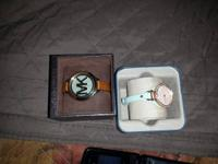 2 brand new women watches Michael Kore's and fossil